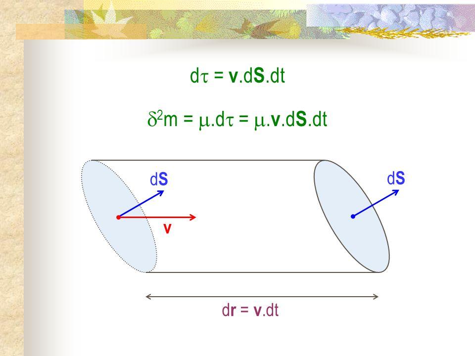 d = v.dS.dt 2m = .d = .v.dS.dt dS v dr = v.dt