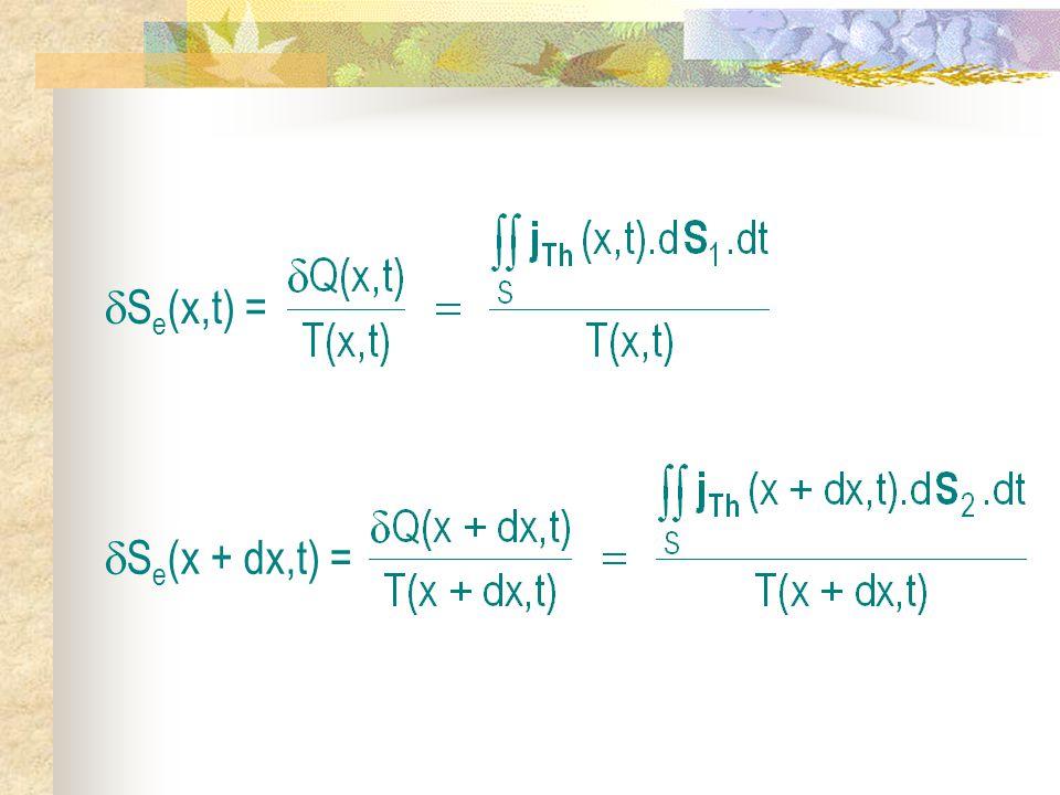 Se(x,t) = Se(x + dx,t) =