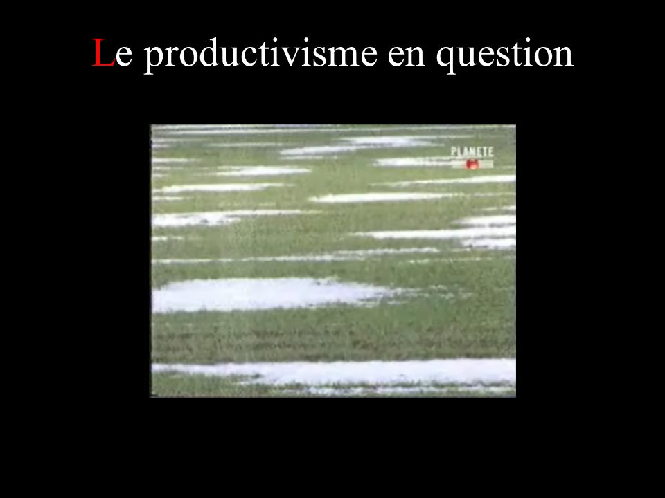 Le productivisme en question