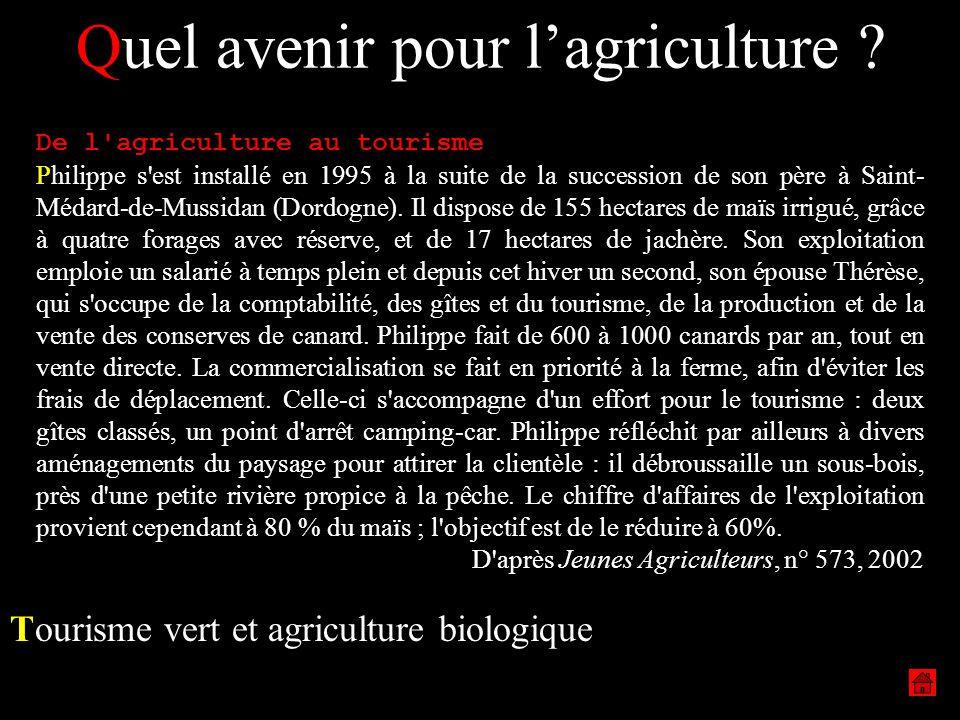 Quel avenir pour l'agriculture