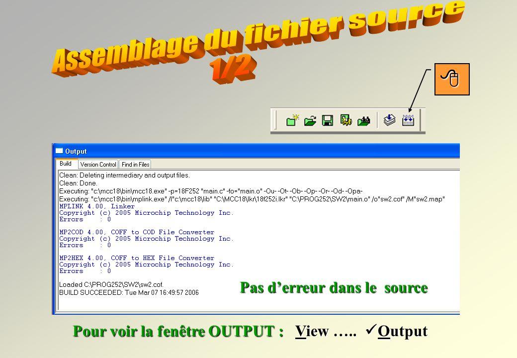 Assemblage du fichier source