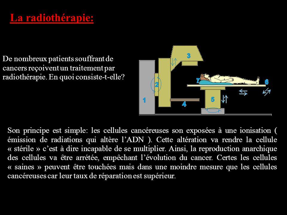 La radiothérapie: De nombreux patients souffrant de cancers reçoivent un traitement par radiothérapie. En quoi consiste-t-elle