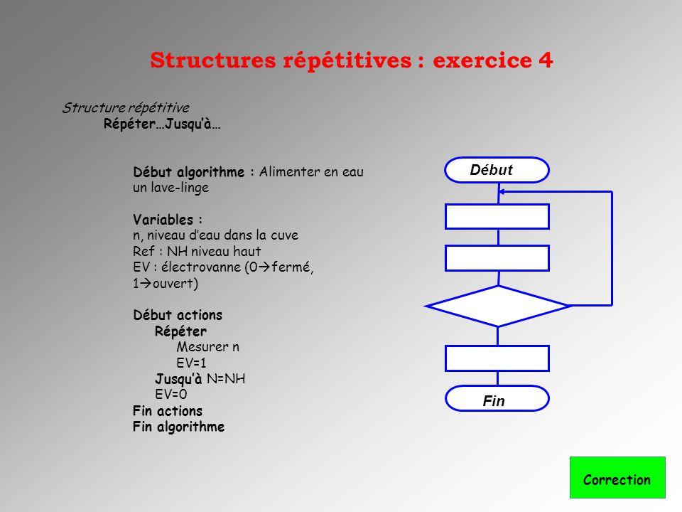Structures répétitives : exercice 4