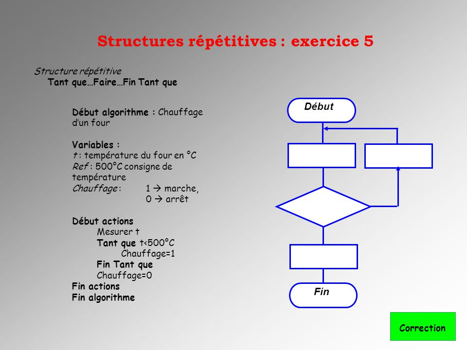 Structures répétitives : exercice 5