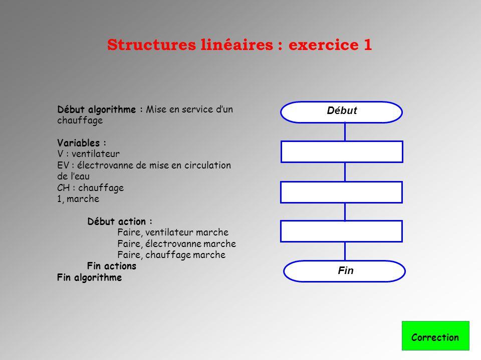 Structures linéaires : exercice 1