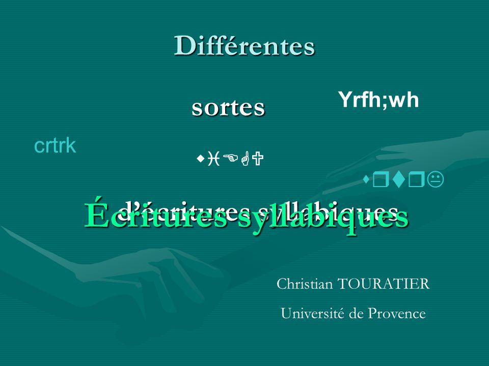 Écritures syllabiques