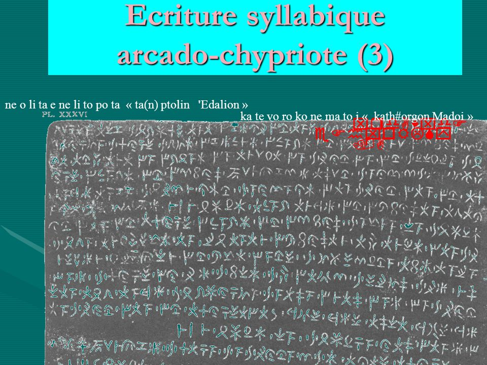 Ecriture syllabique arcado-chypriote (3)