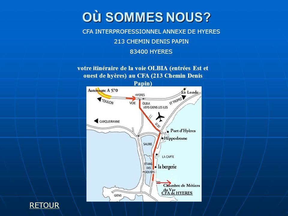 CFA INTERPROFESSIONNEL ANNEXE DE HYERES