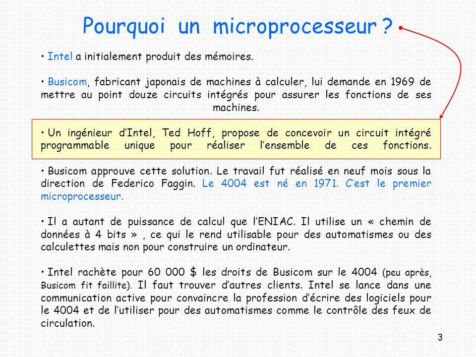 Pourquoi un microprocesseur