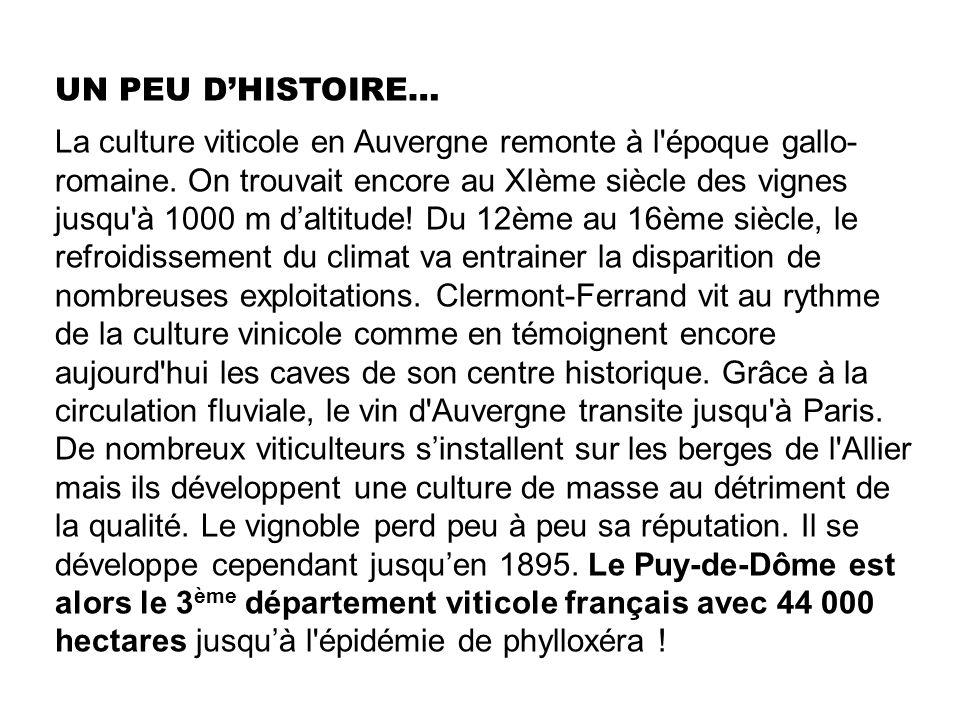 UN PEU D'HISTOIRE…