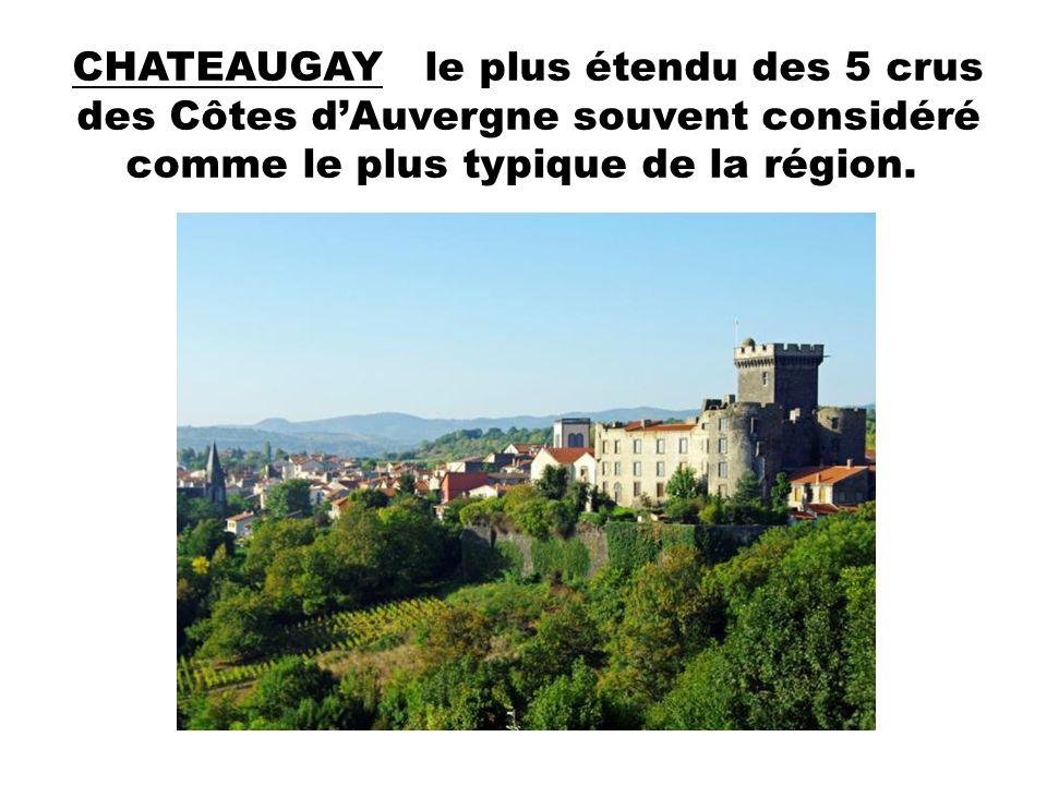 CHATEAUGAY le plus étendu des 5 crus des Côtes d'Auvergne souvent considéré comme le plus typique de la région.