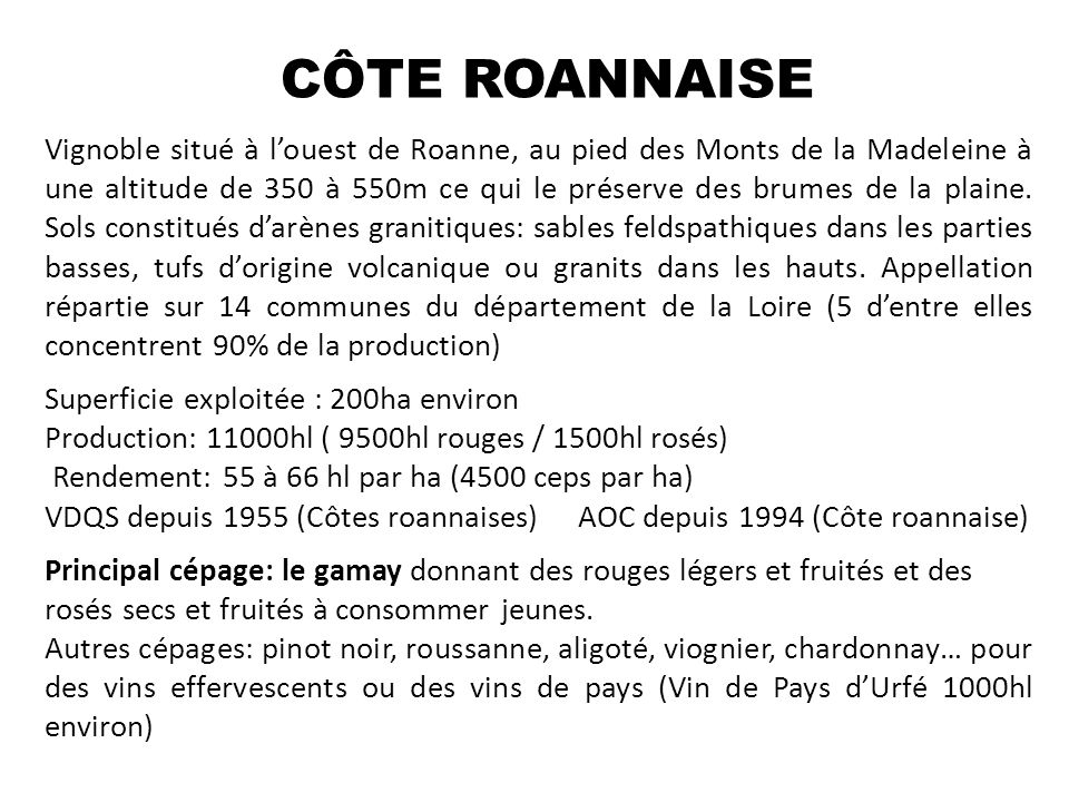 CÔTE ROANNAISE