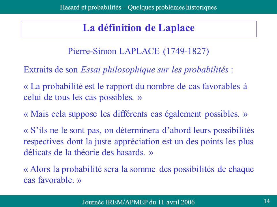 La définition de Laplace