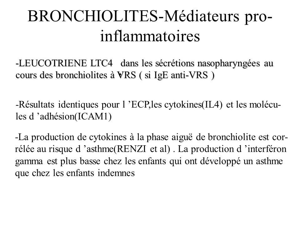 BRONCHIOLITES-Médiateurs pro-inflammatoires