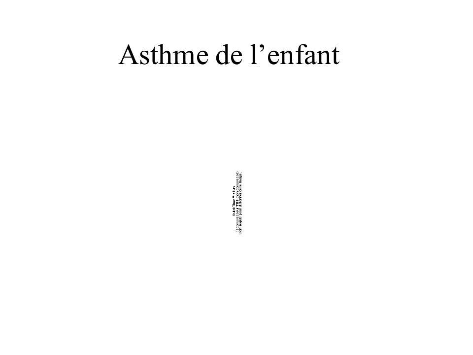 Asthme de l'enfant