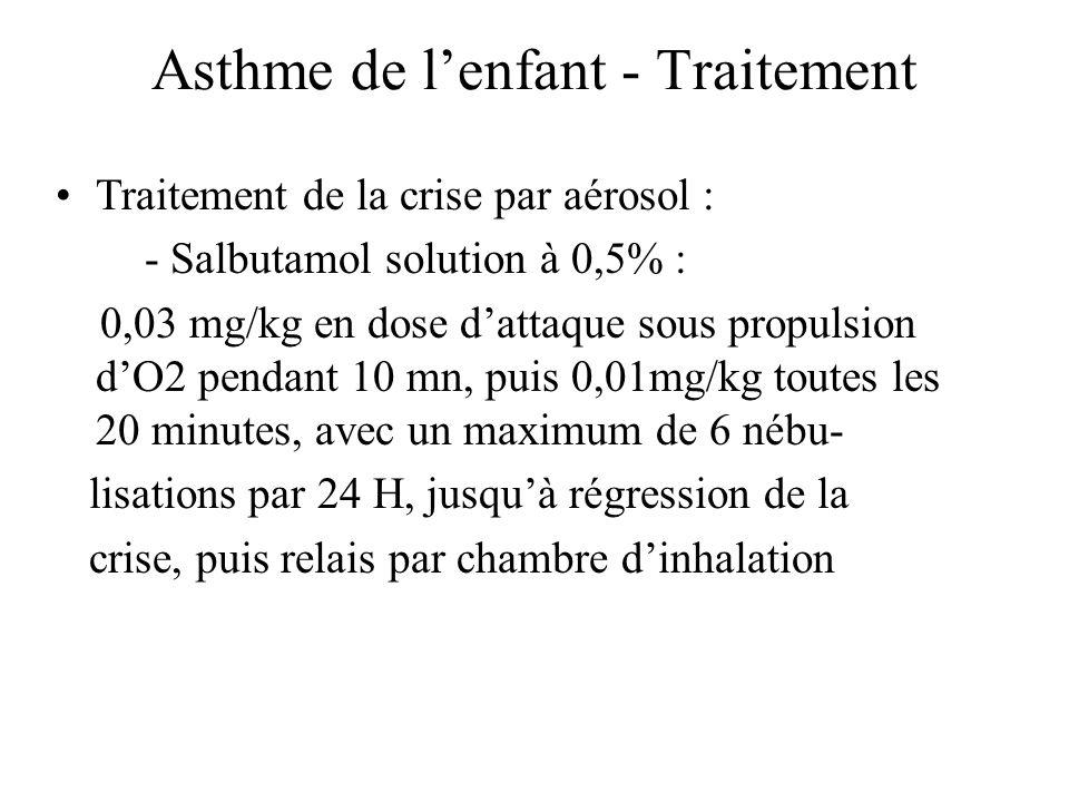 Asthme de l'enfant - Traitement
