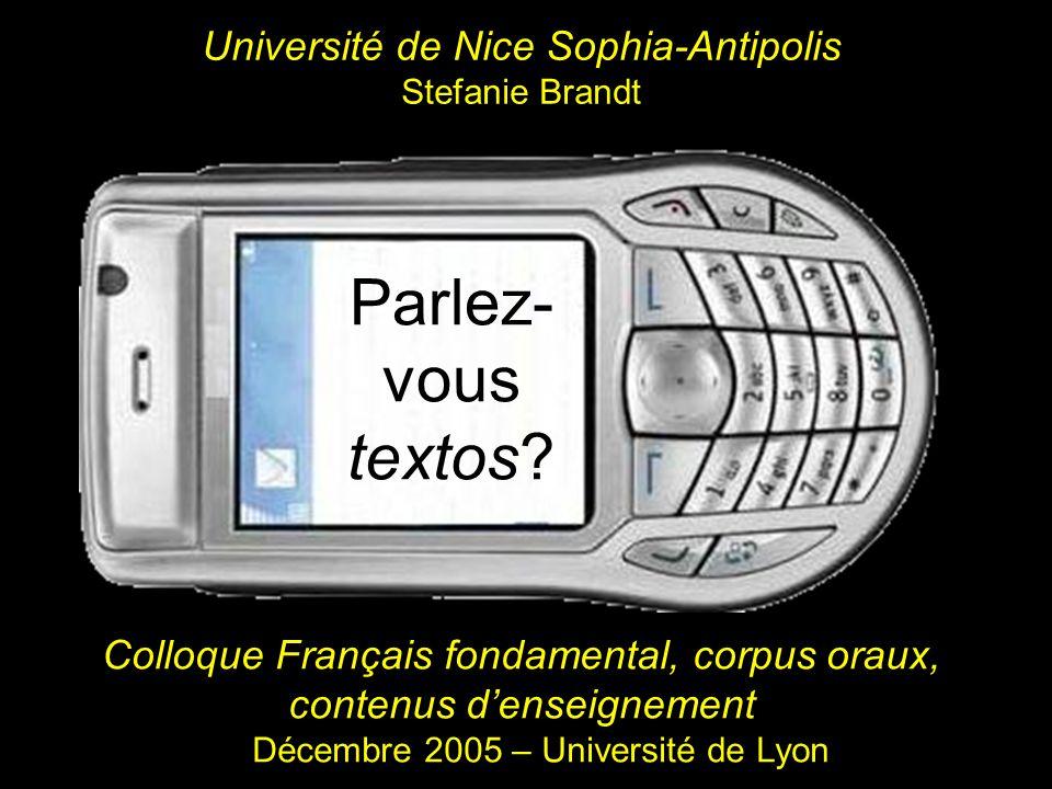 Université de Nice Sophia-Antipolis Stefanie Brandt