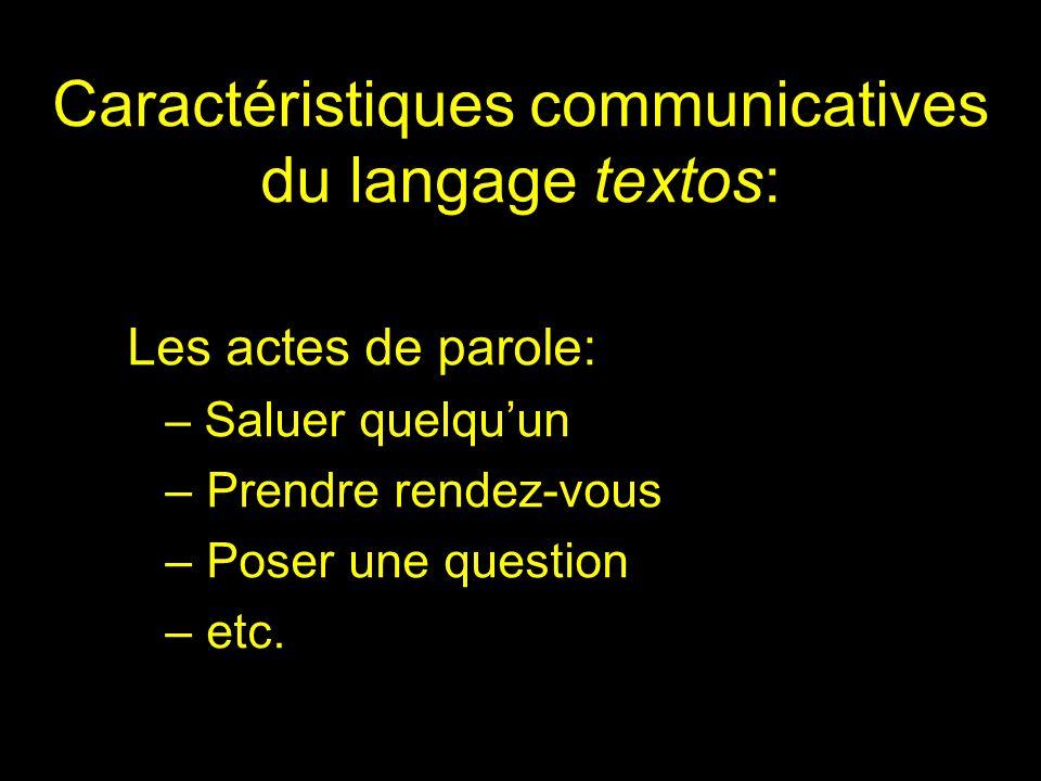 Caractéristiques communicatives du langage textos: