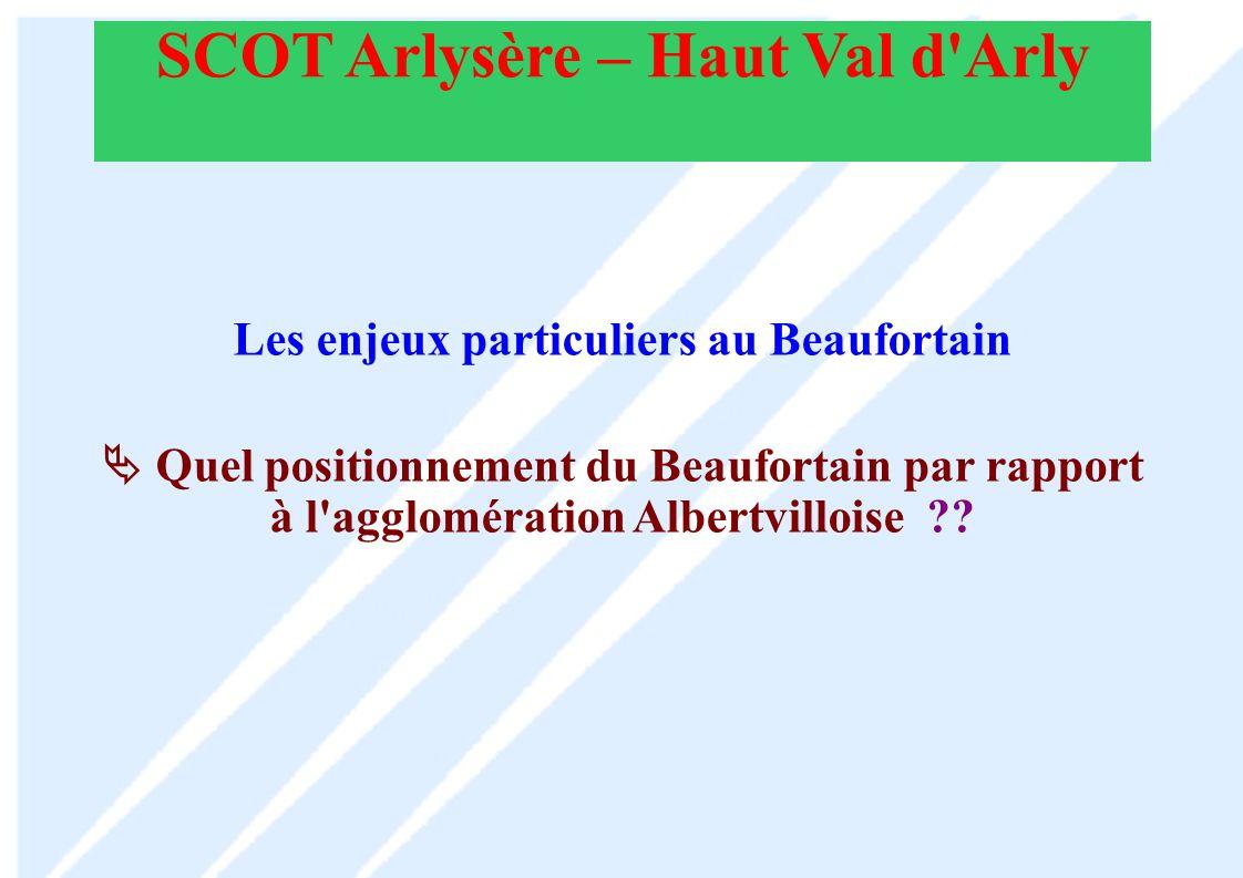 SCOT Arlysère – Haut Val d Arly Les enjeux particuliers au Beaufortain