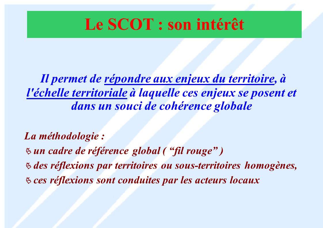 Le SCOT : son intérêt
