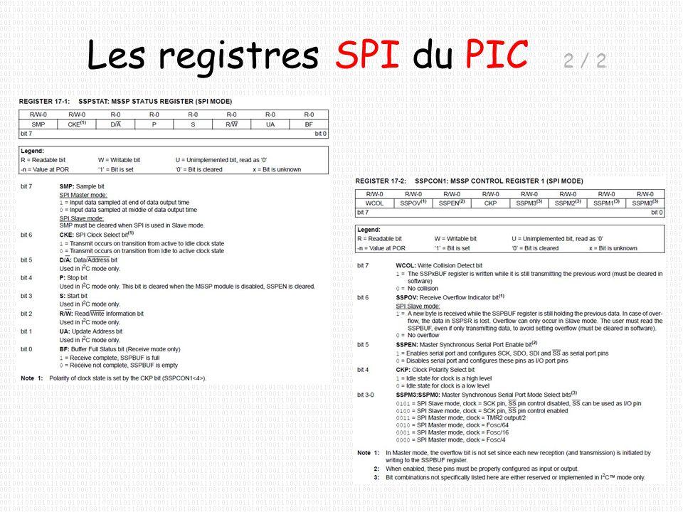 Les registres SPI du PIC 2 / 2