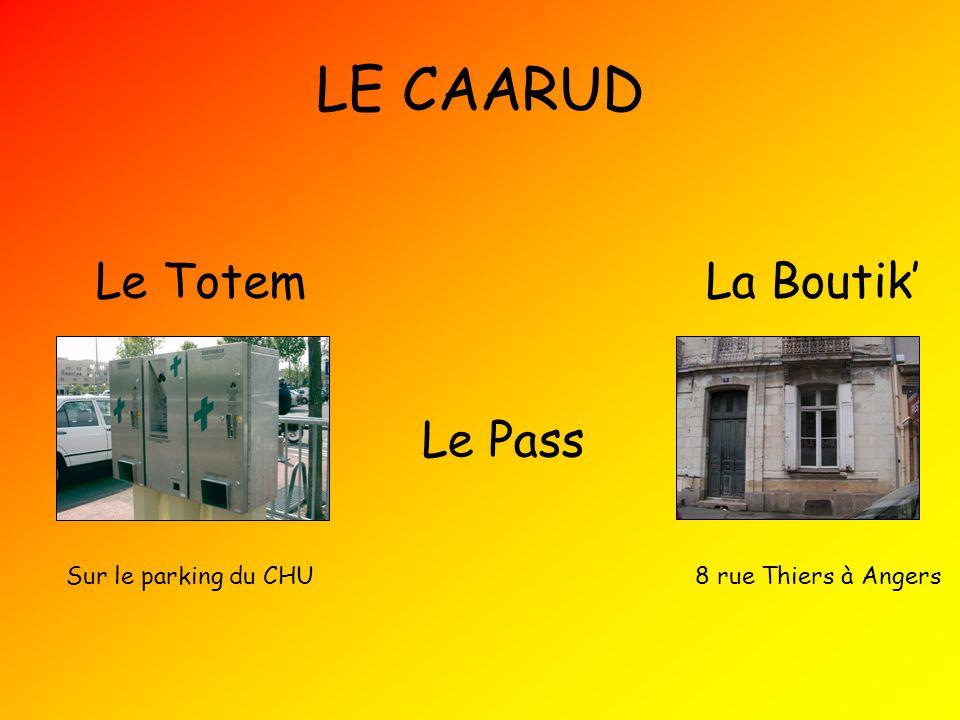 LE CAARUD Le Totem La Boutik' Le Pass Sur le parking du CHU