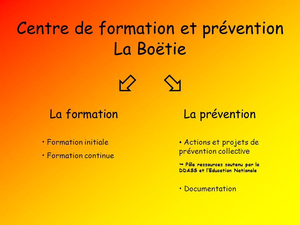 Centre de formation et prévention