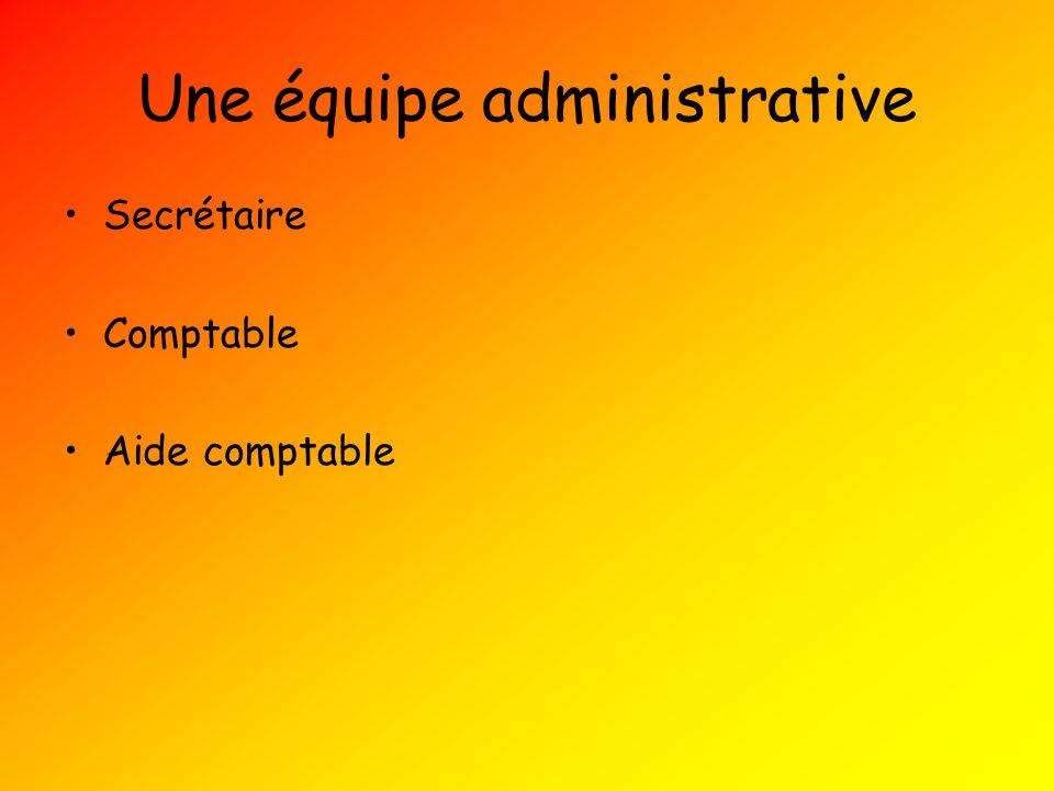 Une équipe administrative