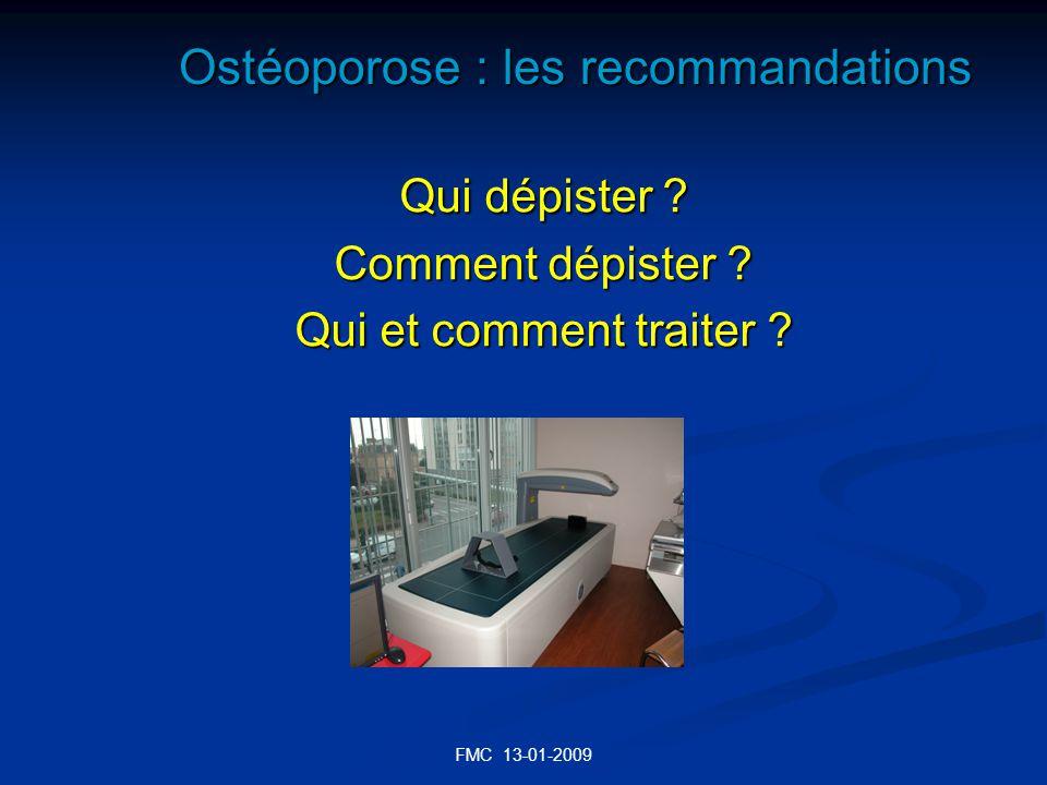 Ostéoporose : les recommandations