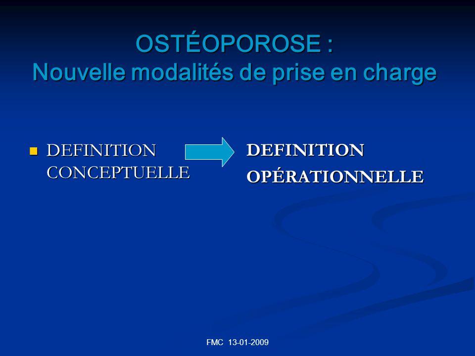 OSTÉOPOROSE : Nouvelle modalités de prise en charge