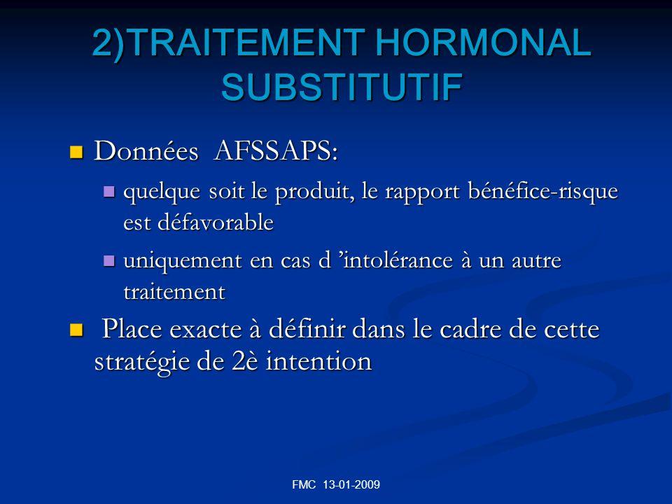 2)TRAITEMENT HORMONAL SUBSTITUTIF