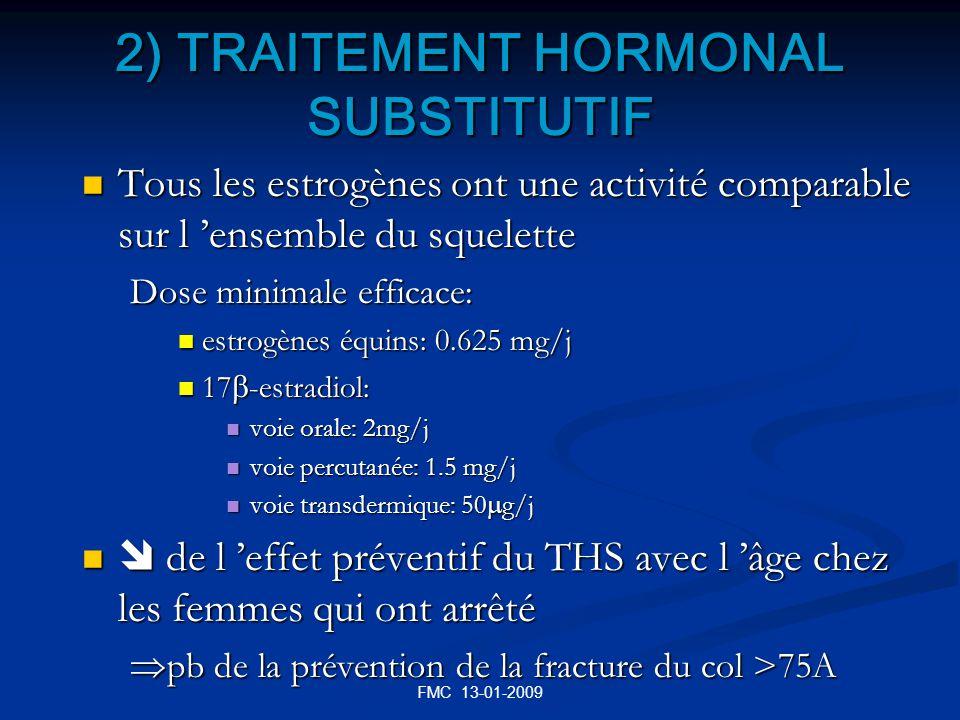 2) TRAITEMENT HORMONAL SUBSTITUTIF