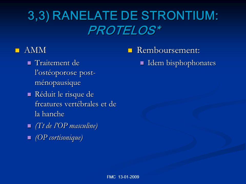 3,3) RANELATE DE STRONTIUM: PROTELOS*