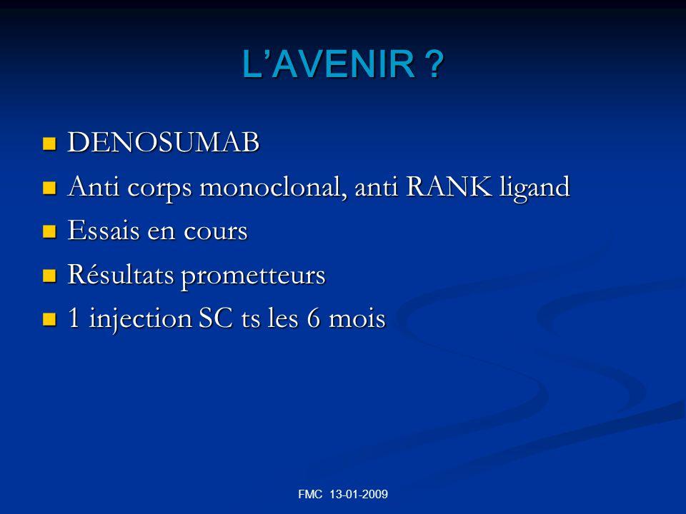 L'AVENIR DENOSUMAB Anti corps monoclonal, anti RANK ligand