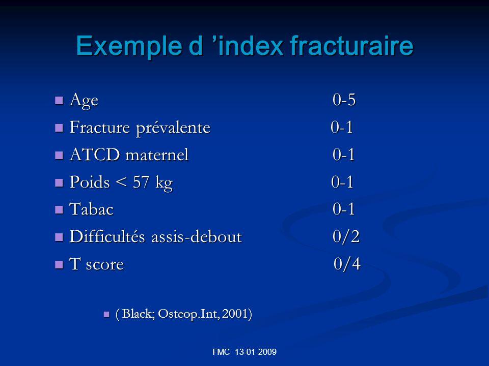 Exemple d 'index fracturaire