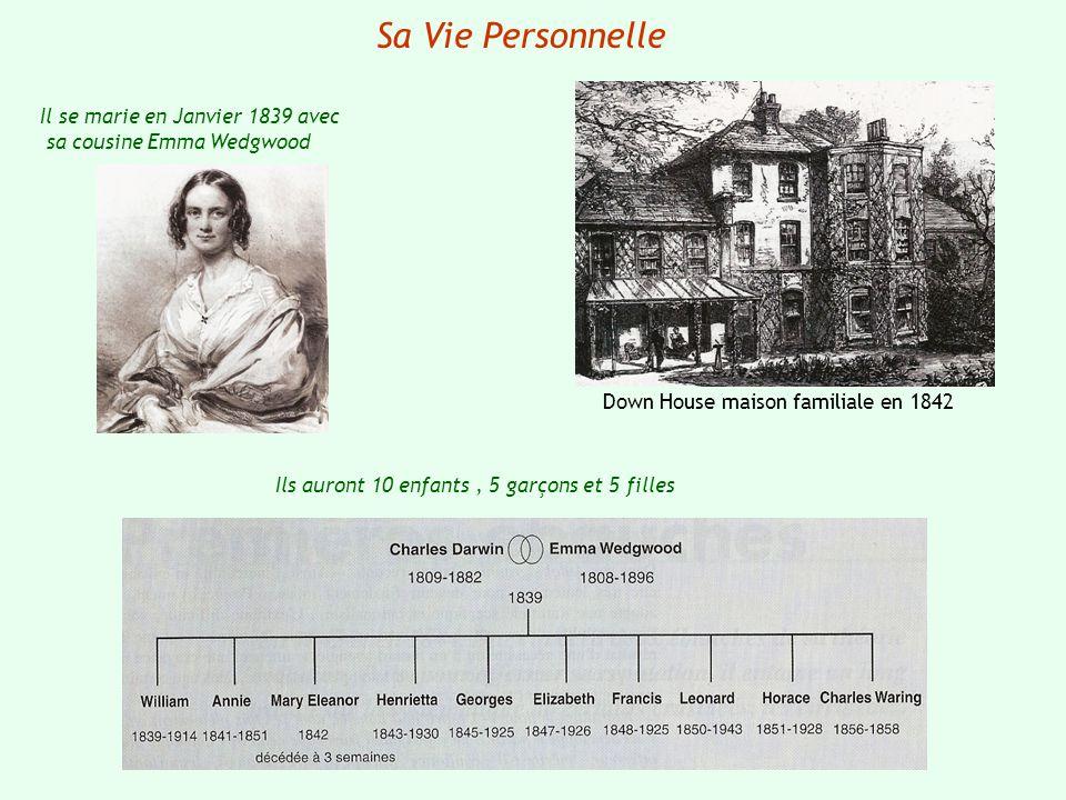 Sa Vie Personnelle Il se marie en Janvier 1839 avec