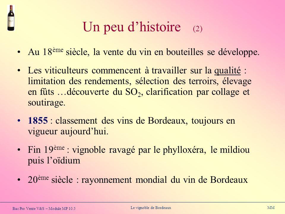 Un peu d'histoire (2) Au 18ème siècle, la vente du vin en bouteilles se développe.