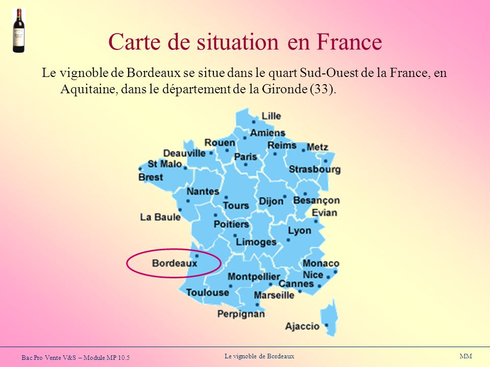 Carte de situation en France