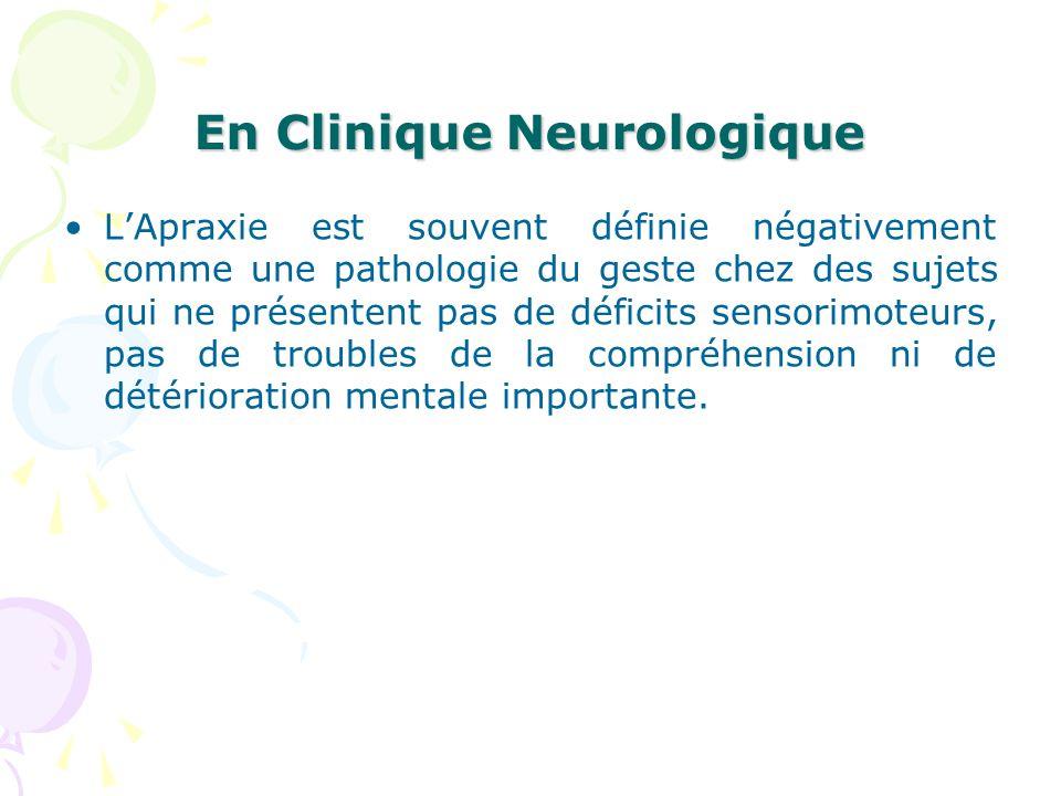 En Clinique Neurologique