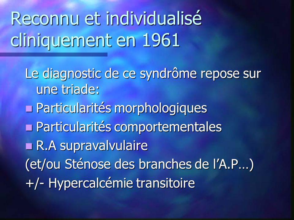 Reconnu et individualisé cliniquement en 1961