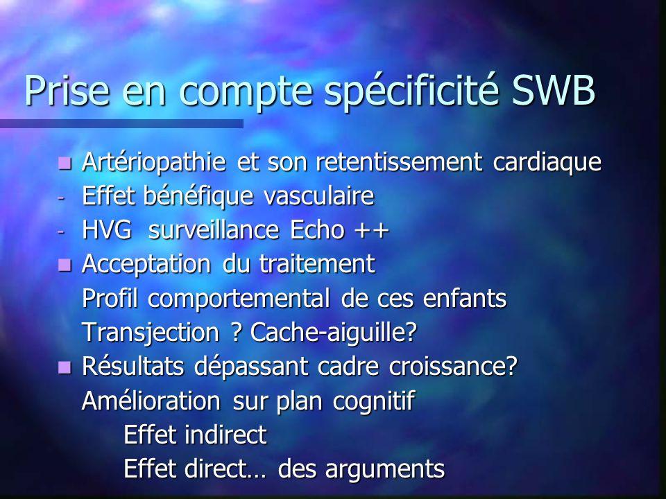 Prise en compte spécificité SWB