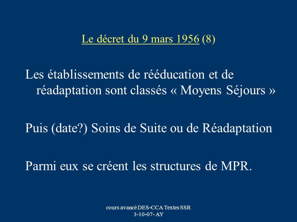 cours avancé DES-CCA Textes SSR 3-10-07- AY