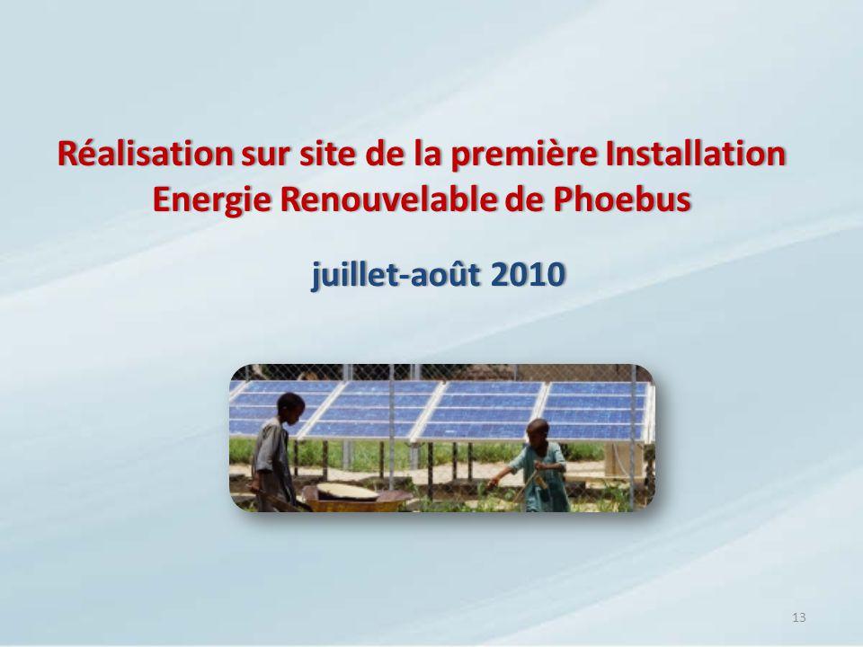 Réalisation sur site de la première Installation Energie Renouvelable de Phoebus