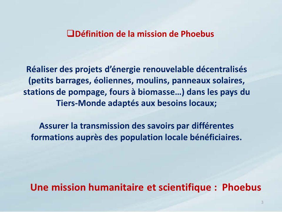 Définition de la mission de Phoebus