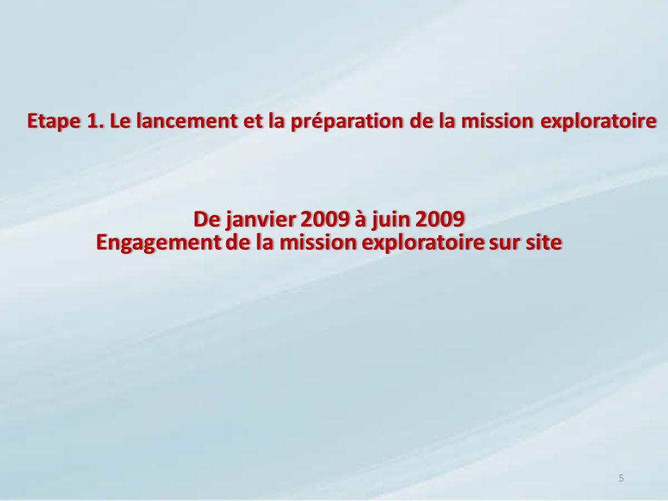Etape 1. Le lancement et la préparation de la mission exploratoire