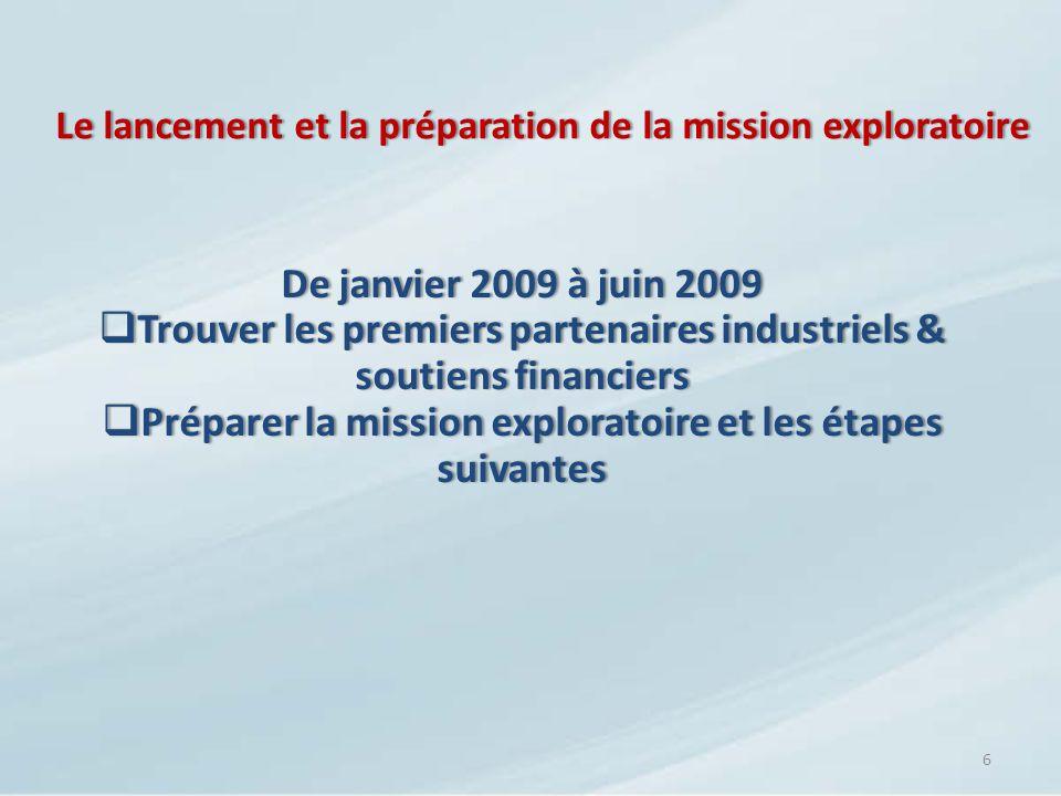 Le lancement et la préparation de la mission exploratoire