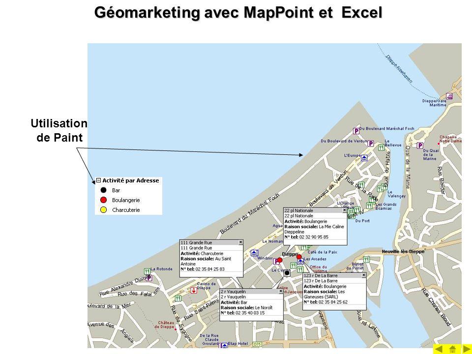 Géomarketing avec MapPoint et Excel