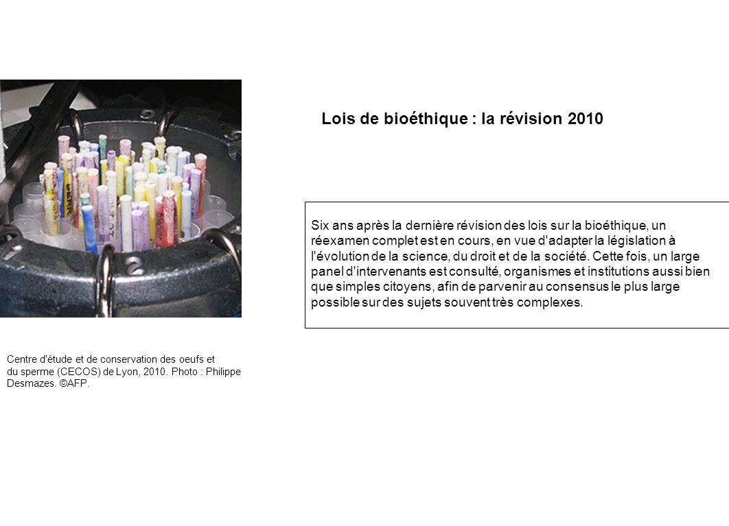 Lois de bioéthique : la révision 2010