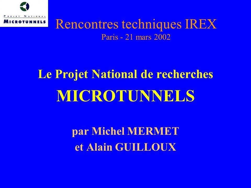 Rencontres techniques IREX Paris - 21 mars 2002