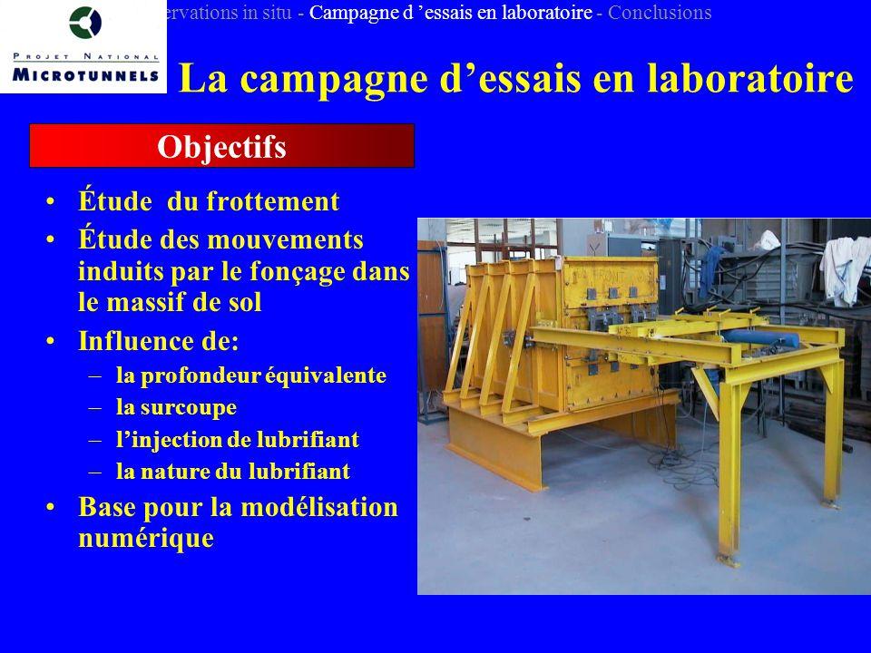 La campagne d'essais en laboratoire